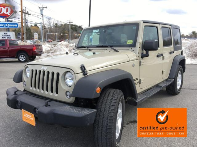 Certified Pre-Owned 2017 Jeep Wrangler Unlimited Sport 4x4