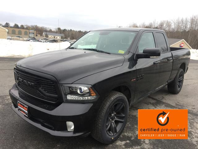 Certified Pre-Owned 2018 Ram 1500 Sport 4x4 Quad Cab 6'4 Box *Ltd Av